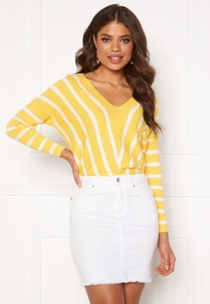 ONLY Aya 7/8 V-Neck Pullover Lemon Drop M