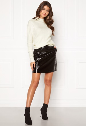 ONLY Bella Faux Leather Skirt Black 36