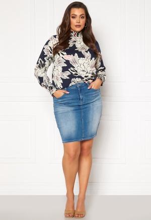 Only Carmakoma Lalola Life Skirt Medium Blue Denim 44