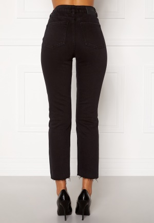 ONLY Emily HW Raw Ank Jeans Black Denim 31/32