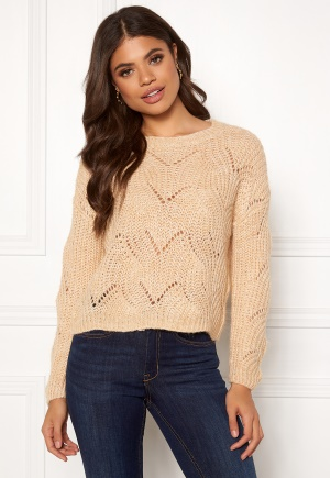 ONLY Havana L/S Pullover Knit Pumice Stone XS
