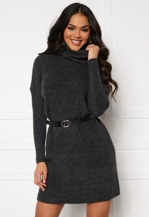 ONLY Jana L/S Cowlnck Dress Dark Grey Melange M