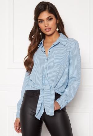 ONLY Lecey Ls Stripe Knot Dnm Shirt Cloud Dancer/Stripes XL