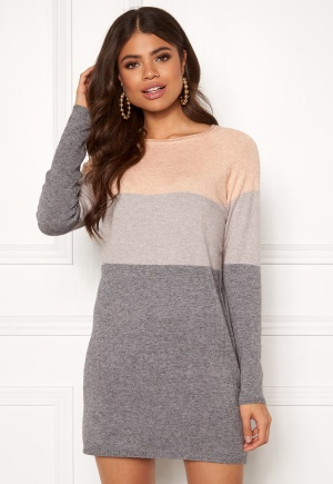 ONLY Lillo L/S Dress Knit Mahogany Rose XS