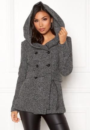 ONLY Lisa Hooded Wool Coat Medium Grey Melange XL