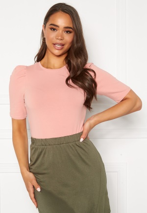 ONLY Live Love Puff Top Rose Tan L