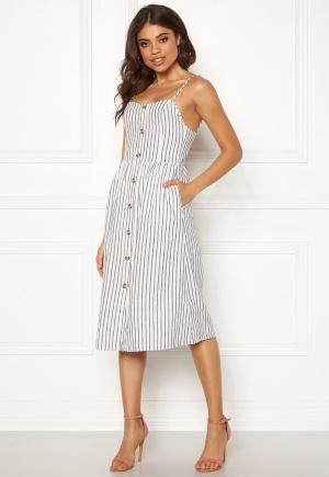 ONLY Luna Strap Stripe Dress Cloud Dancer/Stripes 34