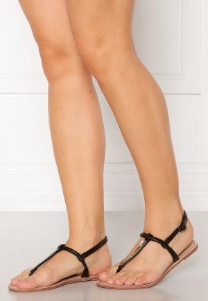 ONLY Margit PU Glitter Split Toe Sandal Black 39