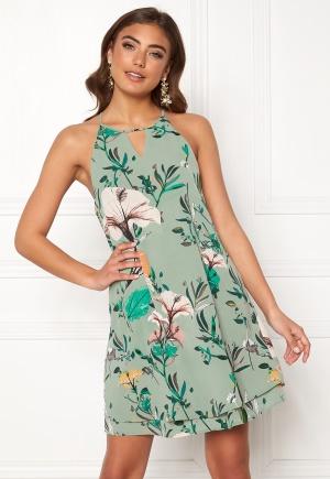 ONLY Mariana Myrina S/L Dress Granite Green AOP 34