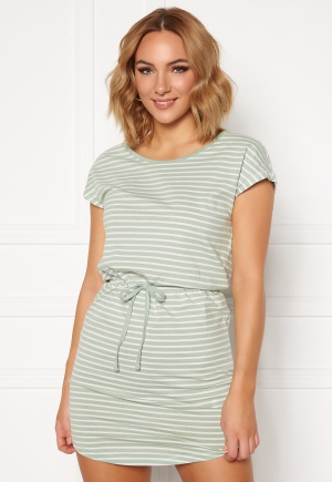 ONLY May Life S/S Dress Frosty Green/Stripes XL