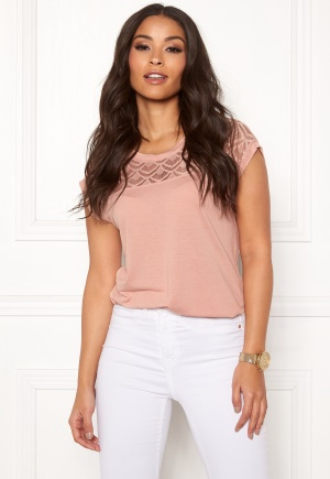 ONLY Nicole S/S Mix Top Misty Rose XS