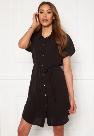 ONLY Nova Lux S/S Shirt Dress Black 34