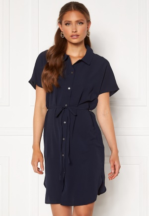 ONLY Nova Lux S/S Shirt Dress Solid Night Sky 40