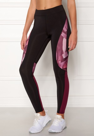 Image of ONLY PLAY Dayo AOP Run Tights Black/Rhododendron XS