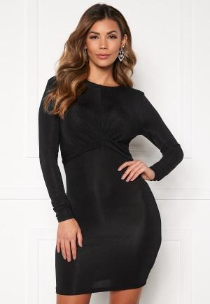ONLY Queen Glitter Twist Dress Black/Black Lurex M