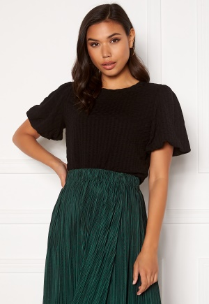ONLY Randy S/S Puff Sleeve Top Black XS
