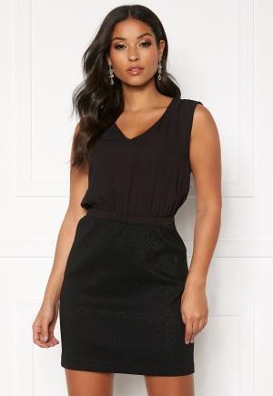 ONLY Simone Short Dress Black-Leo Black 40