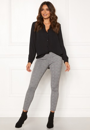 ONLY Tia Check Leggings Black S