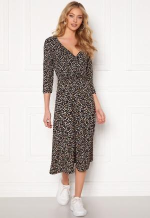 ONLY Zille Naya 3/4 Long Dress Black AOP REFRESH M