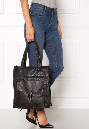 Pieces Abby Leather Shopper Black One size