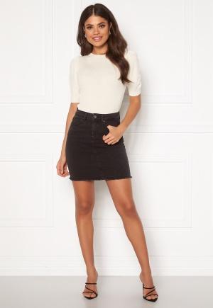 Pieces Aia MW Denim Skirt Black Denim M