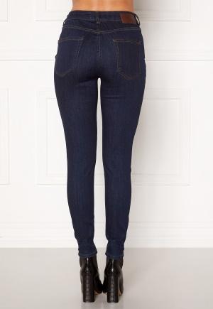 Pieces Delly MW Skinny Jeans Dark Blue Denim M/32