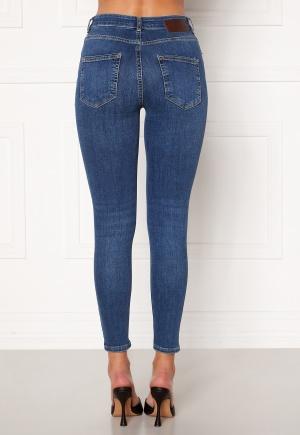 Pieces Delly Skin MW Jeans Medium Blue Denim S