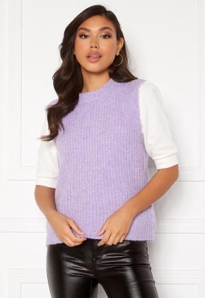 Pieces Fenja Knit Vest Lavender XS