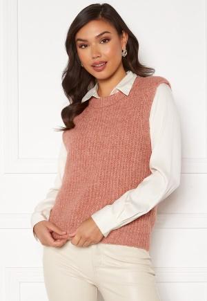 Pieces Fenja Knit Vest Old Rose XL