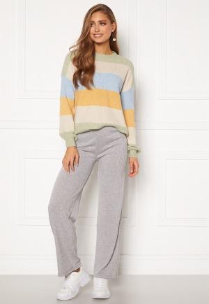 Pieces Molly Pants Light Grey Melange XXS