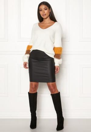 Pieces Paro High Waisted Skirt Black L