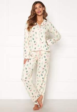 PJ. Salvage PJ Fit Flannel Set Ivory XS