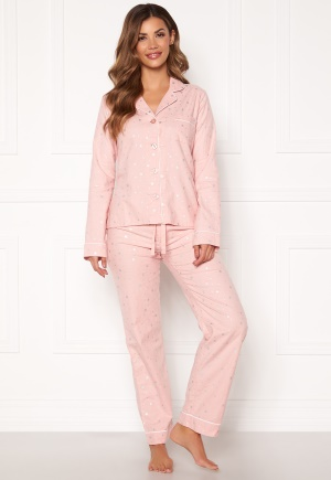 PJ. Salvage PJ Fit Flannel Set Rose Quartz M
