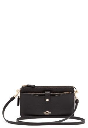 COACH Polished Pebble Bag Black One size