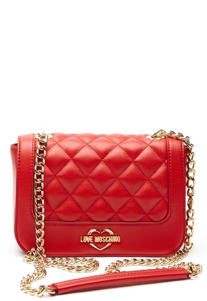 Love Moschino Quilted Small Chain Bag Red One size