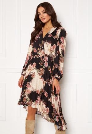 Ravn Regina Dress Flowerprint Black S