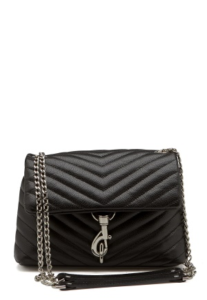 Rebecca Minkoff Edie Crossbody Pebble Bag Black One size