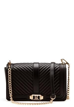 Rebecca Minkoff Love Crossbody Pebble Bag Black One size