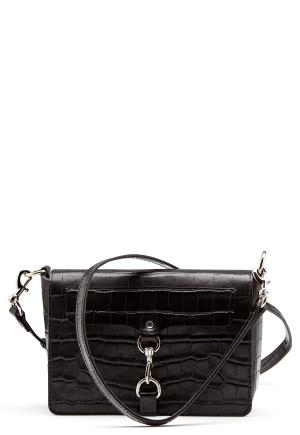 Rebecca Minkoff Map Flap Crossbody Bag Black One size