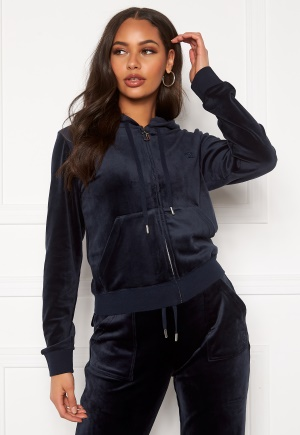 Juicy Couture Robertson Classic Velour Hoodie Night Sky L