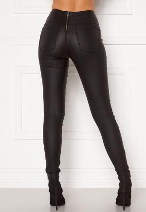 Pieces Roxy HW Zip Coated Leggings Black XS
