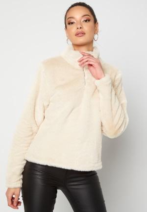Rut & Circle Alex Fur Sweater Sand S