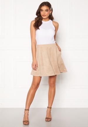 Rut & Circle Ava Suede Skirt Beige L