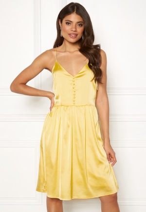 Rut & Circle Button Satin Dress 752 Butter L