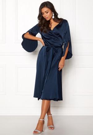 Rut & Circle Fab Wrap Long Dress Midnight Blue L