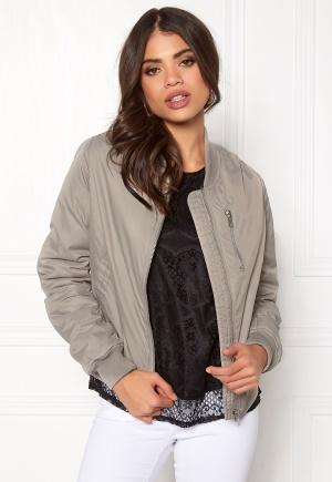Rut & Circle Kate Front Zip Jacket Lt Grey 34