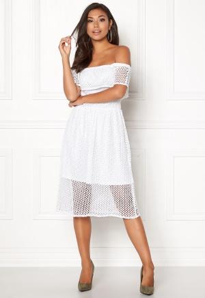 Rut & Circle Li Off Shoulder Dress White L