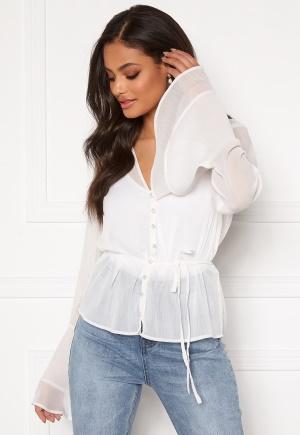 Sandra Willer X Bubbleroom Bell sleeve blouse White 32