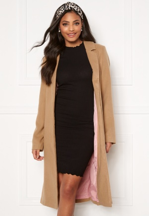 Sandra Willer X Bubbleroom Belted coat Camel 42