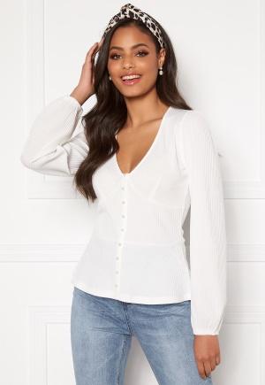 Sandra Willer X Bubbleroom Buttoned top White L